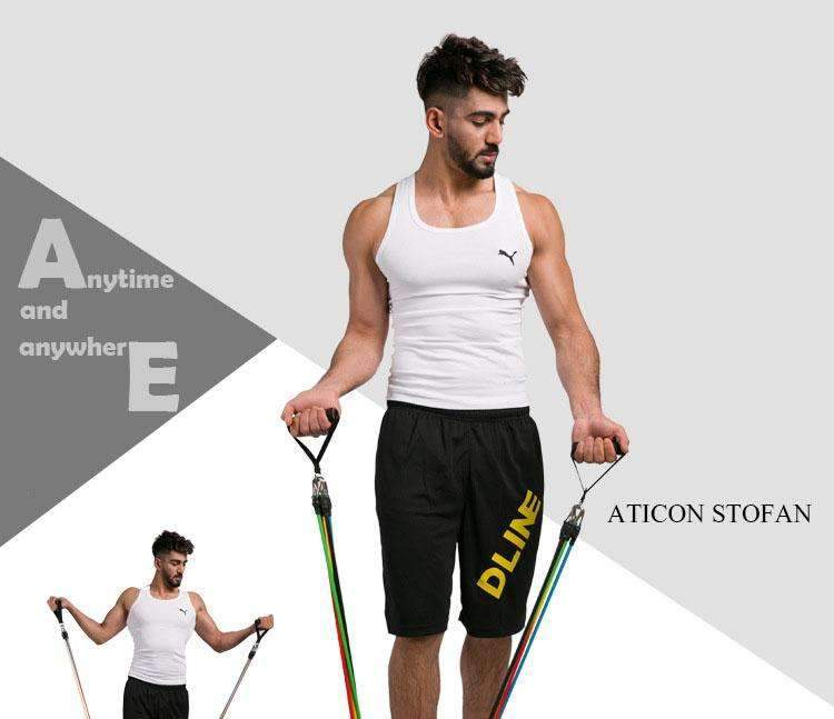 11 Pcs/Set Latex Resistance Bands Crossfit,Training Exercise