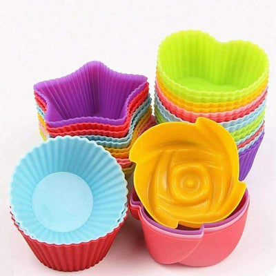 My Envy Shop 12pcs 4 cute shape SiliconeCupcake