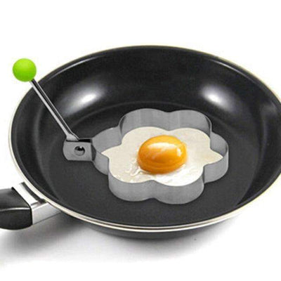 My Envy Shop 2 1 Piece Stainless Steel Fried Egg Shaper Frying Egg Pancake Mould Mold Kitchen Cooking Tool
