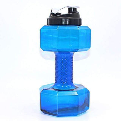 My Envy Shop 2500ml / Blue 2.5L Dumbbells Shaped Plastic Big Large Capacity Gym Sports Water Bottle