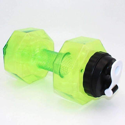 My Envy Shop 2500ml / Green 2.5L Dumbbells Shaped Plastic Big Large Capacity Gym Sports Water Bottle