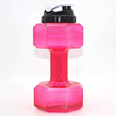 My Envy Shop 2500ml / Hot Pink 2.5L Dumbbells Shaped Plastic Big Large Capacity Gym Sports Water Bottle