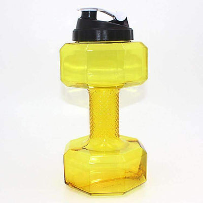 My Envy Shop 2500ml / Yellow 2.5L Dumbbells Shaped Plastic Big Large Capacity Gym Sports Water Bottle