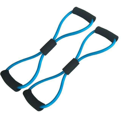 My Envy Shop 2pcs Blue 2 pieces 8-Shaped Resistance Loop Band Tube for Yoga