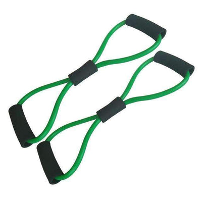 My Envy Shop 2pcs Green 2 pieces 8-Shaped Resistance Loop Band Tube for Yoga