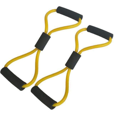 My Envy Shop 2pcs Yellow 2 pieces 8-Shaped Resistance Loop Band Tube for Yoga