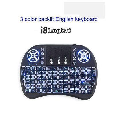 My Envy Shop 3 color backlit Eng Original Backlight i8 2.4GHz Wireless Keyboard Air Mouse Touchpad