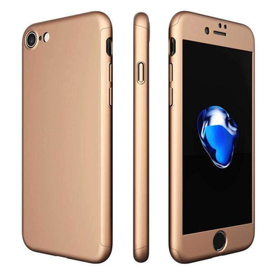 My Envy Shop 360 Degree Full Protection Case For iPhone 7 and 6& 5 5S + Clear Glass Film
