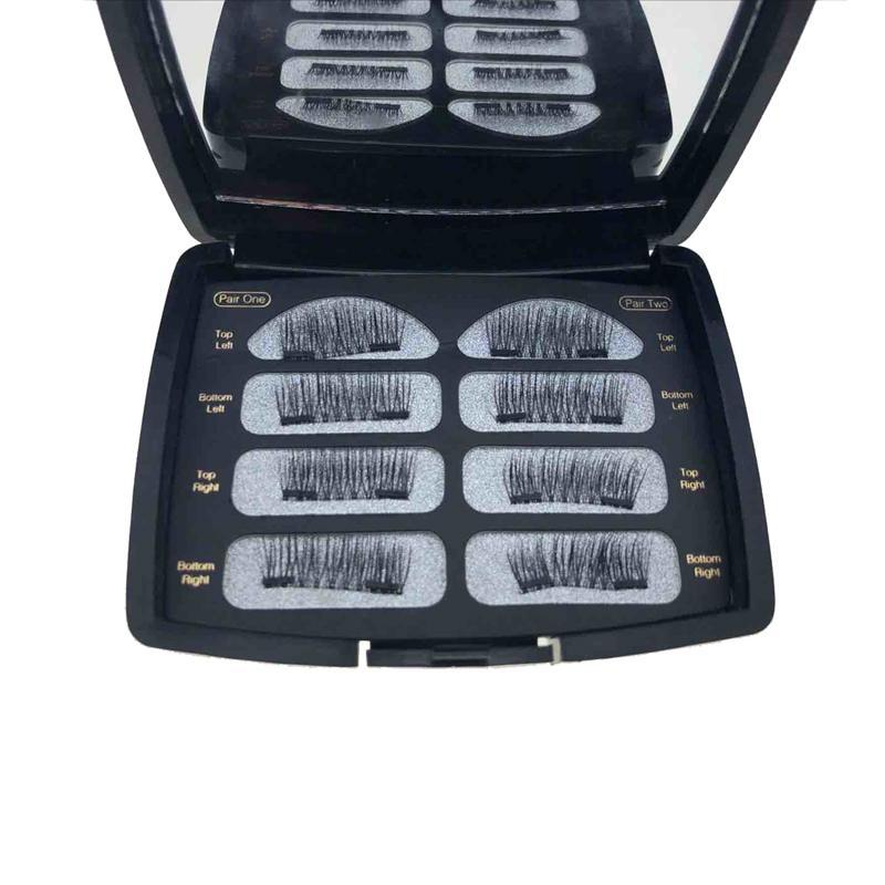 My Envy Shop 3D Magnetic Eyelashes Thick Cross Long Full Strip Eye Lashes Makeup Extension Tools