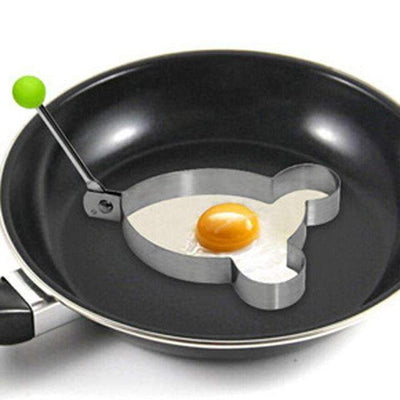 My Envy Shop 4 1 Piece Stainless Steel Fried Egg Shaper Frying Egg Pancake Mould Mold Kitchen Cooking Tool