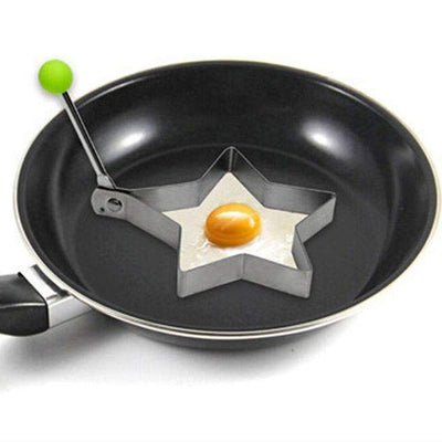 My Envy Shop 5 1 Piece Stainless Steel Fried Egg Shaper Frying Egg Pancake Mould Mold Kitchen Cooking Tool