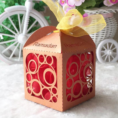 My Envy Shop 50pcs /lot Mawlid decoration Ramadan chocolate box