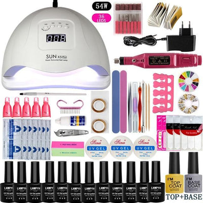 My Envy Shop 54W led lamp Luxury Complete Beauty Nail Set