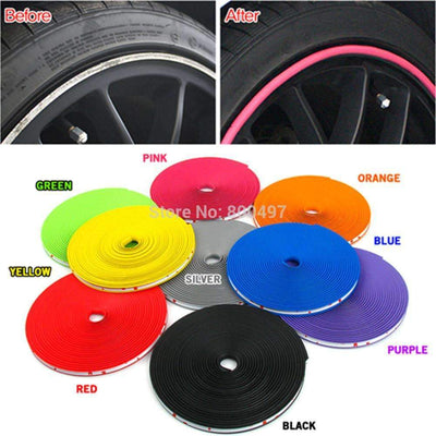 My Envy Shop 8M / Lot New Car Styling Auto Accessories :) Car  Wheel Ring Tire Wheel Protector Fashion and Beauty <3