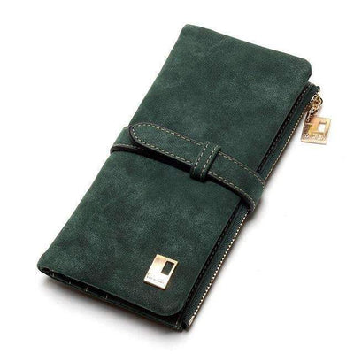 My Envy Shop Army Green Wallets Drawstring Nubuck Leather