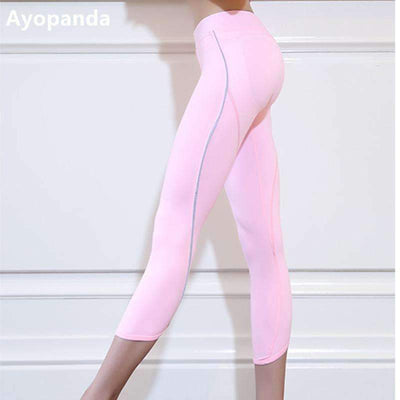 My Envy Shop Ayopanda Women's Push Up Sexy Yoga Pants High Quality Cute Fitness Apparel Pink Running Tights Sports Leggings Exercise Capri