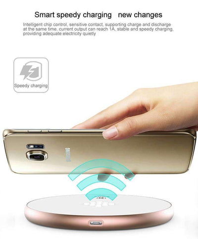 My Envy Shop Baseus Qi Wireless Charger Fast Charging Pad For Samsung S7 S6 Edge Note 5 HTC E9 8X Nexus 4 5 6 7 Micro USB Qi Phone Charger