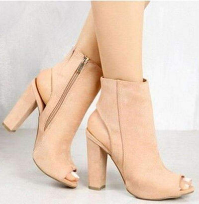My Envy Shop Beige / 5 High Heels Ankle Boots