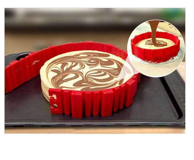 My Envy Shop Best Silicone Cake Mold Magic Bake Snake and Cake Decorating Tips Combo, DIY Baking Mould Tool Design Your Pastry Dessert with Any Pan Shape, 4 PCS/lot Nonstick Flexible Reusable Easy to Use