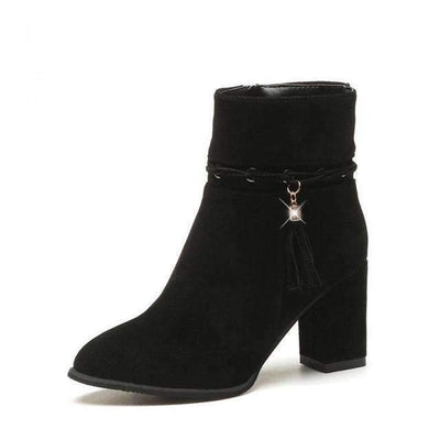 My Envy Shop Black / 5 suede Women Boots Tassel Ankle Boots