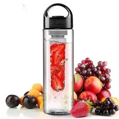 My Envy Shop black 700ML Plastic FruitWater Bottle With Filter