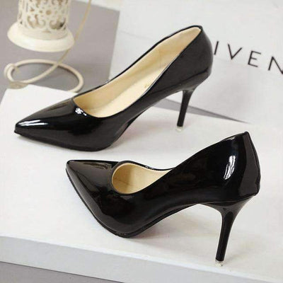 My Envy Shop Black 7CM / 4.5 New Fashion high heels women pumps thin heel classic