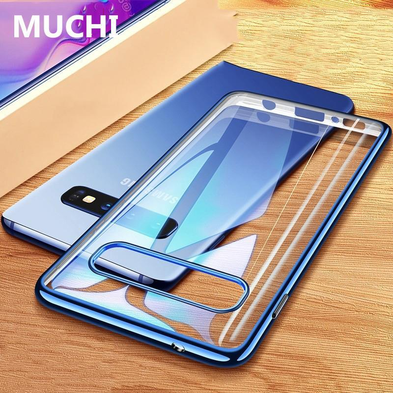 Luxury Laser Plating Soft Clear Back Cover For Samsung Galaxy S10e S10 S10+ Phone Cases