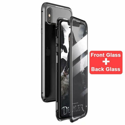 My Envy Shop Black / For iphone 7 8 plus Luxury 360 Degree Full Protection Cover Double sided glass Magnetic case For iPhone
