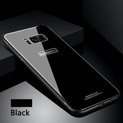 promo code 52097 f7d81 Tempered Glass Case for Samsung S 8 9 + Note 8 Back Cover