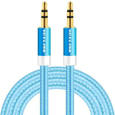 My Envy Shop Blue / 200cm Gold Plated Plug 3.5mm Aux Cable Line For Car iPhone MP3/MP4 Headphone Speaker