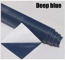 My Envy Shop Blue 3D Carbon Fiber Vinyl Car Wrap Sheet Roll Film,Car Styling Accessories ,30cmx127cm