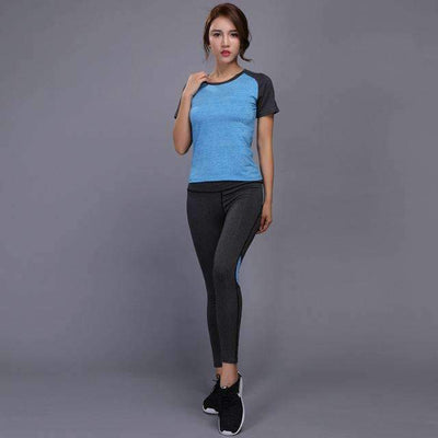 My Envy Shop Blue / S Shirt+Pants Breathable Gym Workout Clothes