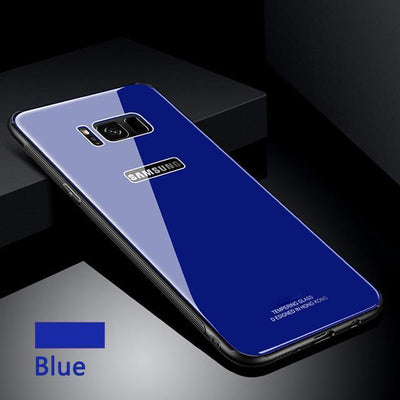 My Envy Shop Blue / Samsung NOTE 8 Tempered Glass Case for Samsung S 8 9 + Note 8 Back Cover