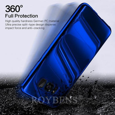 My Envy Shop Blue / Samsung S7 Luxury Mirror 360° Ultra Thin Full Protection Case For Samsung