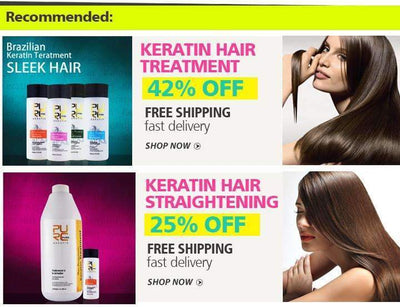 My Envy Shop Brazilian Keratin Treatment straightening hair make hair smoother now 4 PCS in one set