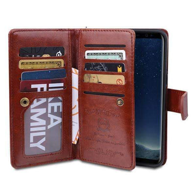 My Envy Shop brown / For Samsung S8 Leather Phone Bags For Samsung Galaxy S8 Plus Cases