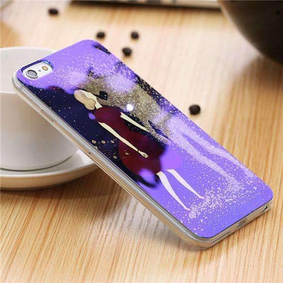 My Envy Shop C / For iPhone 6 6s Plus Cute Blue Light Silicon Back Cover Ultra Thin Blue Ray Case For iPhone 6 6s 5 5s