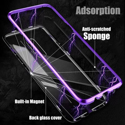 My Envy Shop Clear With Black / S10 Full Body Magnetic Case For Samsung Galaxy S10 Plus