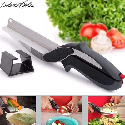 My Envy Shop Clever Cutter Knife 2-in-1 Kitchen Tool - AS SEEN ON TV