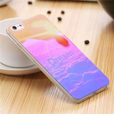 My Envy Shop D / For iPhone 6 6s Plus Cute Blue Light Silicon Back Cover Ultra Thin Blue Ray Case For iPhone 6 6s 5 5s
