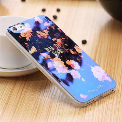 My Envy Shop E / For iPhone 6 6s Plus Cute Blue Light Silicon Back Cover Ultra Thin Blue Ray Case For iPhone 6 6s 5 5s
