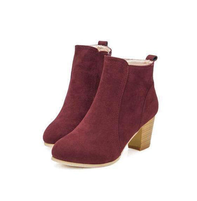 My Envy Shop EFFGT NEW Autumn winter short cylinder boots with high heel