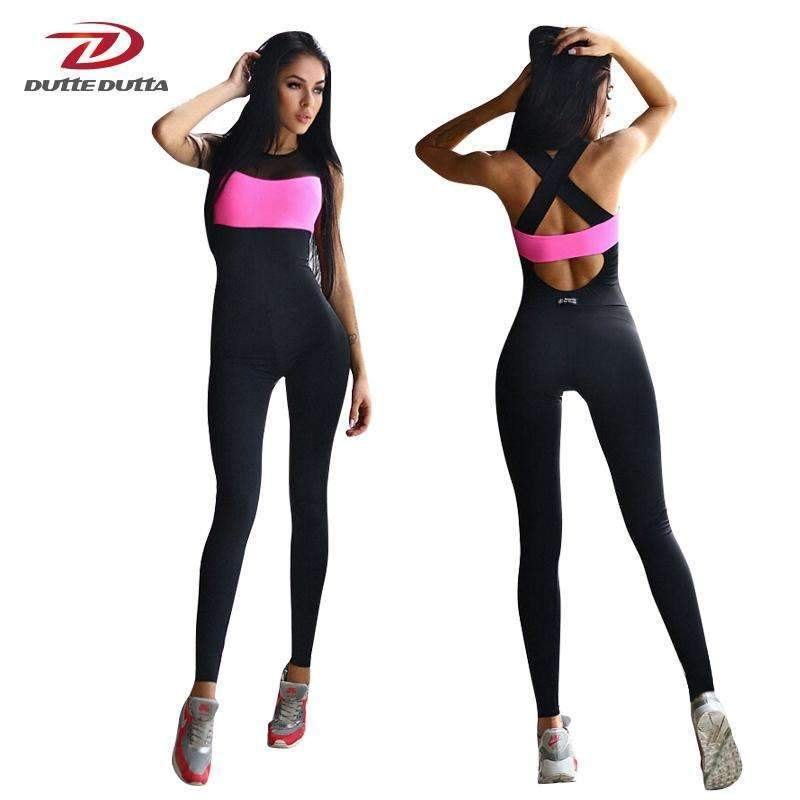 659cf7825c My Envy Shop Fitness Sport Suit Women Tracksuit Yoga Set Backless Gym  Running Set Sportswear Leggings