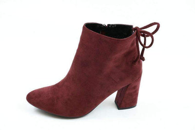 My Envy Shop Flock Ankle Boots Round Toe Winter