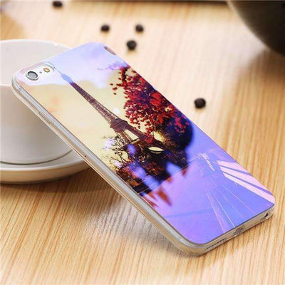 My Envy Shop G / For iPhone 6 6s Plus Cute Blue Light Silicon Back Cover Ultra Thin Blue Ray Case For iPhone 6 6s 5 5s