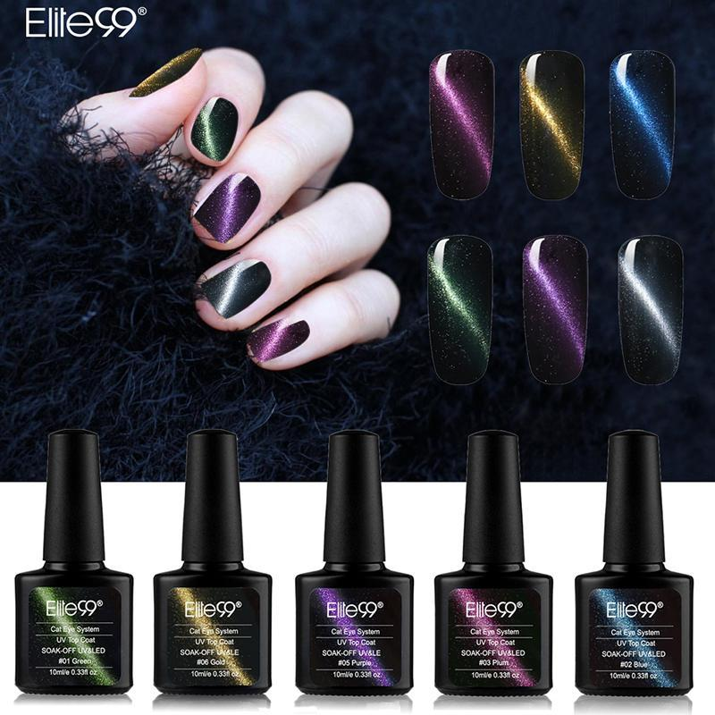 Gel Nail Polish Top Coat Soak Off UV LED Magnetic 3D Effect Cat Eye