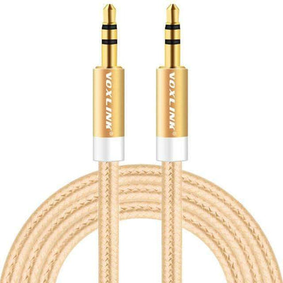 My Envy Shop Gold / 200cm Gold Plated Plug 3.5mm Aux Cable Line For Car iPhone MP3/MP4 Headphone Speaker