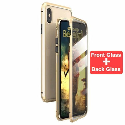 My Envy Shop Gold / For iphone 7 8 plus Luxury 360 Degree Full Protection Cover Double sided glass Magnetic case For iPhone