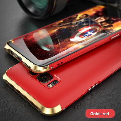 My Envy Shop Gold red / For Galaxy S8 Plus Luxury Hybrid Slim Cover 360° Full Protection 3 in 1 For Samsung Galaxy S8 S8+