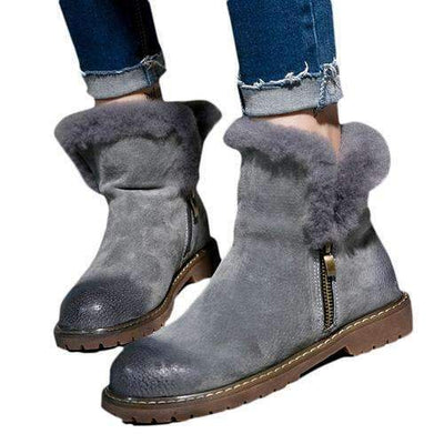 My Envy Shop gray / 6 Winter Fur Boots